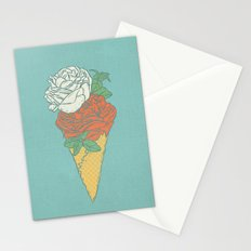 Rose ice cream Stationery Cards