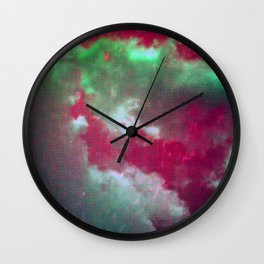 Pink Clouds Wall Clock