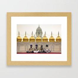 Golden Temple Sihks Amritsar Framed Art Print