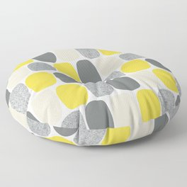 Wonky Ovals in Yellow Floor Pillow