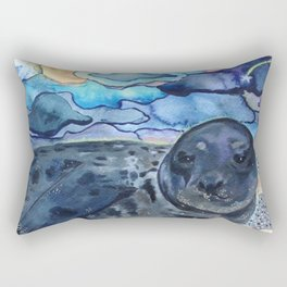 Cliffnote the Baby Harbor Seal Rectangular Pillow