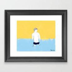 Sur la planche #01 Framed Art Print