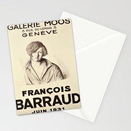 francois barraud galerie moos  vintage Poster Stationery Cards