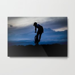 Night rider. Metal Print