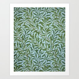 William Morris Willow Bough and Leaves Textile Floral Pattern Art Print