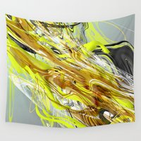 oil Wall Tapestries featuring Oil & Dirt by Naked Monkey