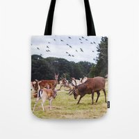 marauders Tote Bags featuring Mr Prongs and other Marauders by Gioia De Antoniis