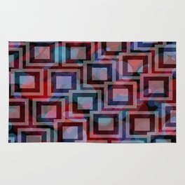 Black and White Squares Pattern 04 Rug