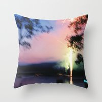 camp Throw Pillows featuring camp by Michael Jack