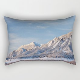 Winter Snow on Flatirons in Boulder Colorado Rectangular Pillow
