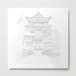 Bath House Japanese Anime Illustration Metal Print