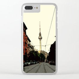 Berlin Retro Clear iPhone Case