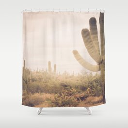 Saguaro Sunrise Shower Curtain