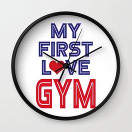 My first love gym Wall Clock