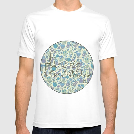 Live Lovely, Print T-shirt