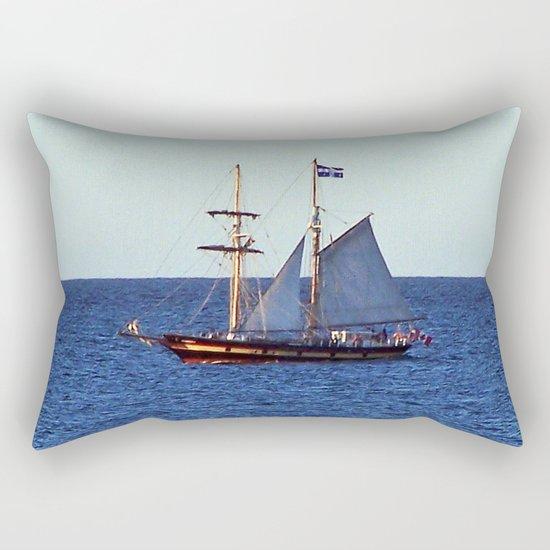 Quebec Sailboat Rectangular Pillow