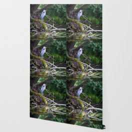 Heron under the tree Wallpaper