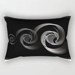 Circles black and white Rectangular Pillow