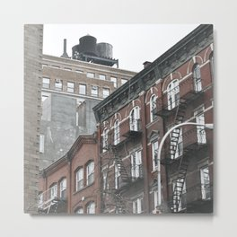 New York City corners, fire escapes, ladders fine art , nyc, America, photo Metal Print