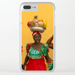 Cartagena Fruit Vendors Clear iPhone Case