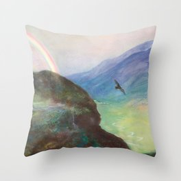 Belle's Journey: Over the Mountains Throw Pillow