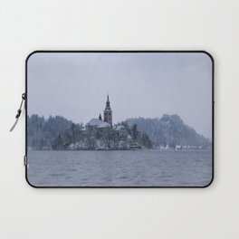 Misty Bled Lake Laptop Sleeve