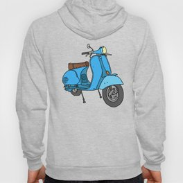 Blue motor scooter (vespa) Hoody