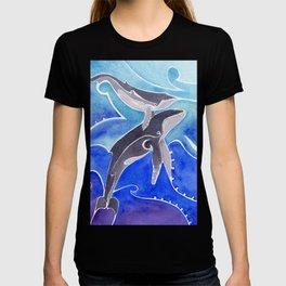 Polynesian humpback whale and calf T-shirt