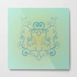 Mint tendrils emblem Metal Print