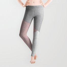 Pink, gray, white, pechvork. Leggings
