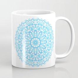 Mandala 12 / 3 eden spirit light blue turquoise white Coffee Mug