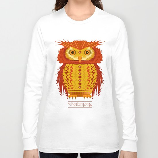 Geometric Owl Long Sleeve T-shirt