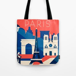 Abstract Paris Tote Bag
