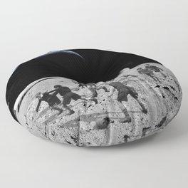 Moon Rocks For Goal Posts Floor Pillow