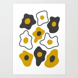 Fried eggs Art Print