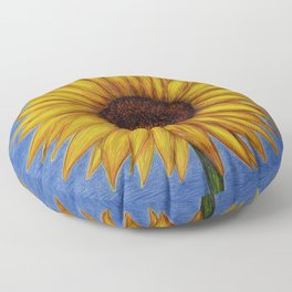 Sunflower by Lars Furtwaengler | Ink Pen | 2011 Floor Pillow