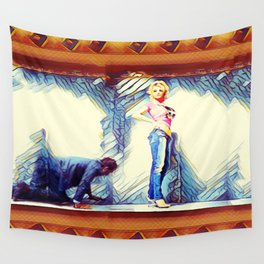 Falling Behind Wall Tapestry