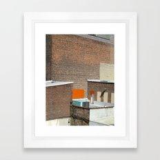 Brick and Orange Framed Art Print