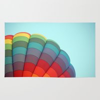 hot air balloon Area & Throw Rugs featuring Hot Air Balloon by Stephanie K