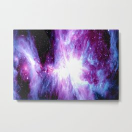 Orion Nebula Purple Periwinkle Blue Galaxy Metal Print