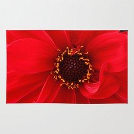 Red Red Dahlia Rug