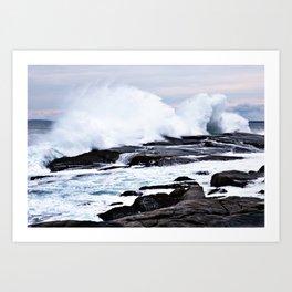 Ferocious Ocean -- Peggy's Cove, Nova Scotia  Art Print