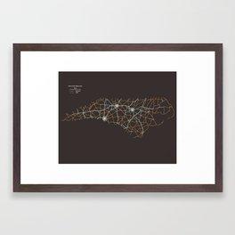 North Carolina Highways Framed Art Print