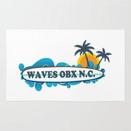 Waves - North Carolina. Rug