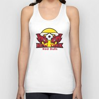 chicago bulls Tank Tops featuring Red Bulls by Mountain Top Designs