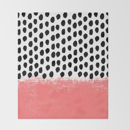 Lola - Abstract, pink, brushstroke, original, painting, trendy, girl, bold, graphic Throw Blanket