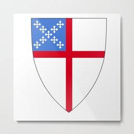 Episcopal Shield Metal Print