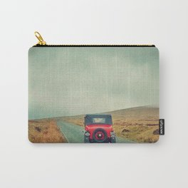 Vintage red car, Ireland Carry-All Pouch