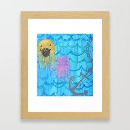 bearded jellyfish love Framed Art Print