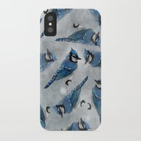 jay fleck iPhone & iPod Cases featuring Blue Jay by Ben Geiger